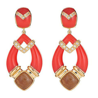 Cristina Sabatini: Cairo Earrings - Dark Coral