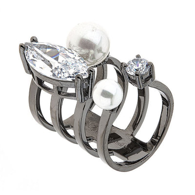 Jewelry - Women's Rings - Black Rhodium Plated - Orion Ring by Cristina Sabatini