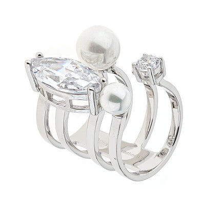 Jewelry - Women's Rings - Rhodium Plated - Orion Ring by Cristina Sabatini