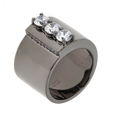 Jewelry- Women's Rings - Black Rhodium Plated  Puppis Ring by Cristina Sabatini