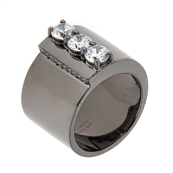 Jewelry- Women's Rings - Rhodium Plated Puppis Ring by Cristina Sabatini