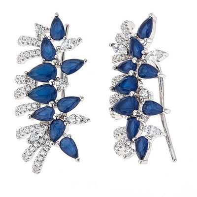 Cristina Sabatini: Pavo Earrings - Blue Quartz
