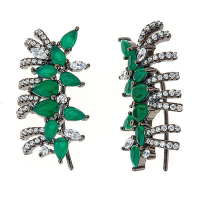 Cristina Sabatini: Pavo Earrings - Green Quartz