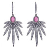 Cristina Sabatini: Apus Earrings - Rhodolite