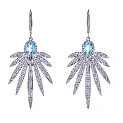 Cristina Sabatini: Apus Earrings - Blue Topaz