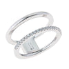 Jewelry - Women's Rings -Rhodium Sterling Silver Plated Pyxis Ring Plated Cristina Sabatini