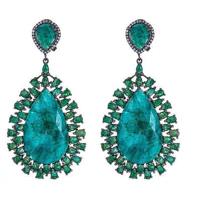 Draco Earrings - Emerald