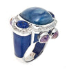 Jewelry -Women's Rings - Rhodium- Kyanite Sphinx Ring -  by Cristina Sabatini