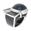 Ammom Ring - Rhodium Plated - Black