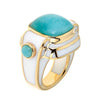 Women's Rings - 18K Gold Plated Amazonite Nubia Ring by Cristina Sabatini