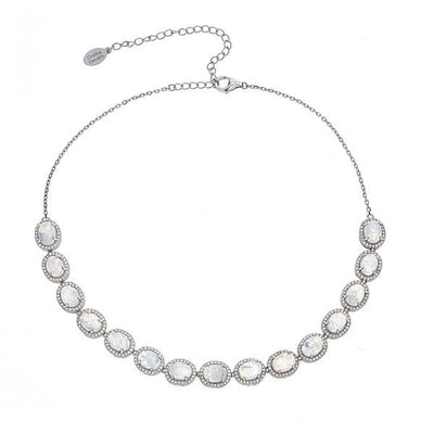 Altair Silver Necklace - Moonstone Gemstone