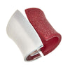 Chimera Cuff Bracelet - Silver - Bordeaux Stingray Leather