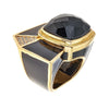Ammom Ring - 18K Gold Plated - Black