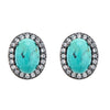 Aquila Stud Earrings - Turquoise Gemstone
