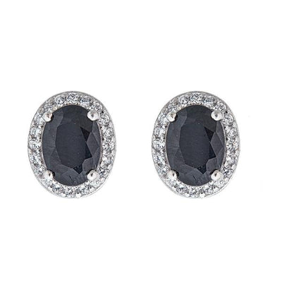 Aquila Stud Earrings - Rhodium Plated Sterling Silver