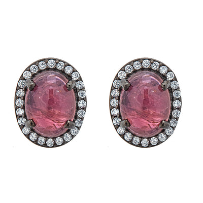 Aquila Stud Earrings - Tourmaline Gemstone