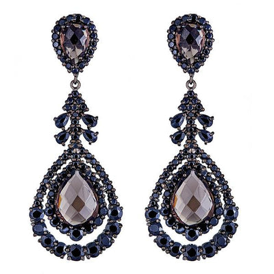 Cristina Sabatini: Phoenix Earrings - Smoky Quartz Gemstone