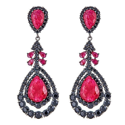 Cristina Sabatini: Phoenix Earrings - Ruby Gemstone