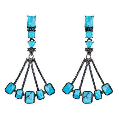 Cristina Sabatini: Sagittarius Earrings - Turquoise Black