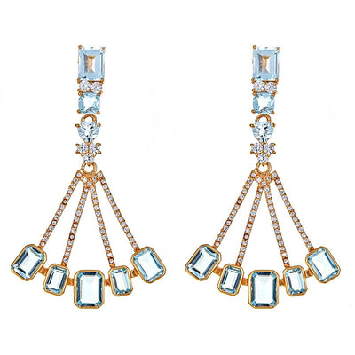 Cristina Sabatini: Sagittarius Earrings - Blue Topaz