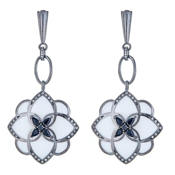 CS Peonia Earrings - Clear by Cristina Sabatini
