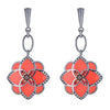 CS Peonia Earrings - Dark Coral by Cristina Sabatini