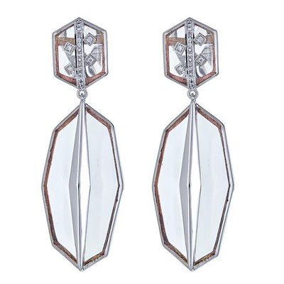 Cristina Sabatini: Serenata Earrings - Clear
