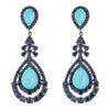 Cristina Sabatini: Phoenix Earrings - Turquoise Gemstone