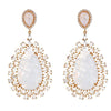 Draco Earrings - Moonstone - 18K Gold Plated
