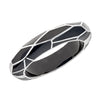 MP Wall Bangle Bracelet - Rhodium Silver - Black Color