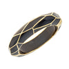 MP Wall Bangle Bracelet - 18K Gold Plated - Black