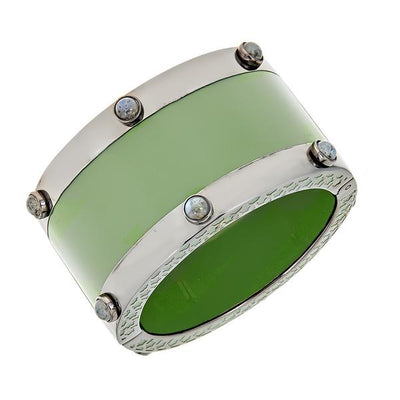 Cristina Sabatini: Cartouche Bangle in Green
