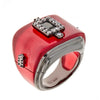 Jewelry -Women's Rings - Burgundy Black Rhodium Rectangular Ring - by Cristina Sabatini