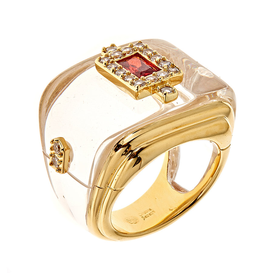 Rectangular Ring - 18K Gold Plated