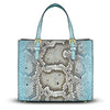 Mini Francesca Tote - Ombre Python Snakeskin Leather Handbag by Cristina Sabatini
