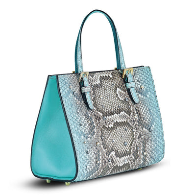 Mini Francesca Tote - Ombre Python Snakeskin Leather Handbag by Cristina Sabatini Side Product View