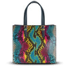 Francesca Tote - Rainbow Snakeskin Python leather Handbag by Cristina Sabatini