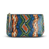 Giada Pouch - Cobalt Cobalt Blue Rainbow Snakeskin Leather Handbag by Cristina Sabatini Back Product View