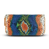 Accessories- Women's Wallets - Camilla Wallet - Cobalt Rainbow Python Snakeskin Leather Cristina Sabatini