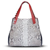 Valentina Tote - Red Python Leather Handbag by Cristina Sabatini