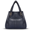 Valentina Tote - Black Python Leather Handbag by Cristina Sabatini