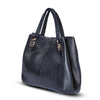 Valentina Tote - Black Python Leather Handbag by Cristina Sabatini Side View