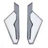 Cristina Sabatini: Gaza Earrings - White - Black Rhodium