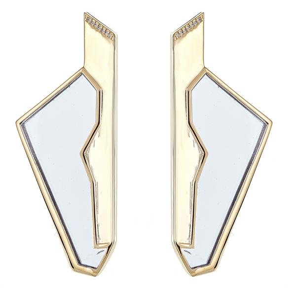 Cristina Sabatini: Gaza Earrings - Black