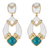 Cristina Sabatini: Cairo Earrings - Chrysocolla