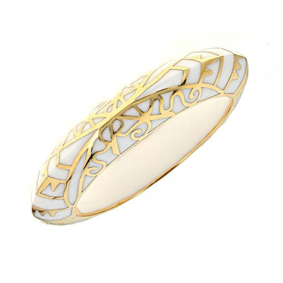 MP Edge Bangle Bracelet - 18K Gold Plated - White Color