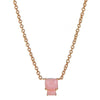 Lyra Necklace - Pink Opal - Gold Plated