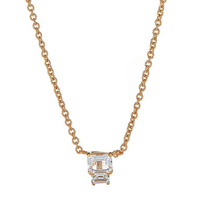 Lyra Necklace - White Topaz - Gold Plated