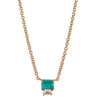 Lyra Necklace - Emerald - Gold Plated