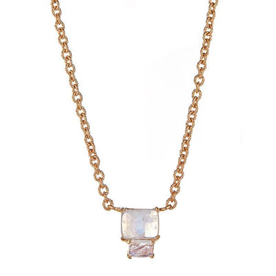 Lyra Necklace - Moonstone - Gold Plated